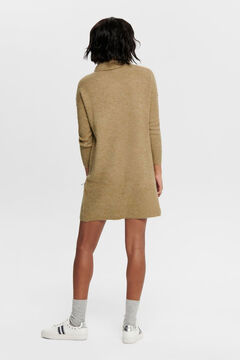 Springfield Polo neck jersey-knit dress  brun