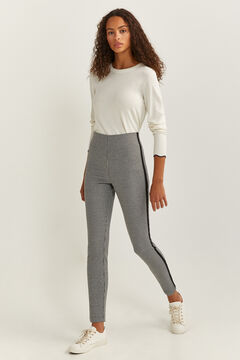 Springfield Textured Side Stripe Leggings black