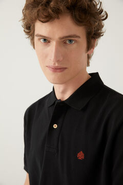 Springfield Essential piqué polo shirt black