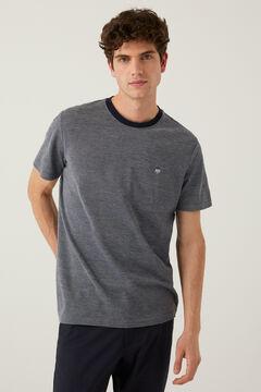 Springfield T-shirt piqué logo azulado