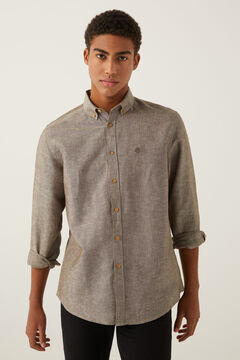 Springfield Linen shirt brown