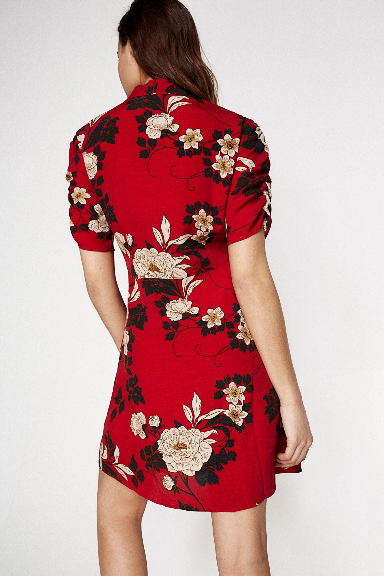 FLOWER PRINT RED DRESS | Dresses | Springfield Man & Woman