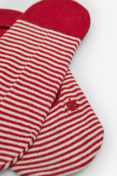 Springfield Invisible stripy socks  red