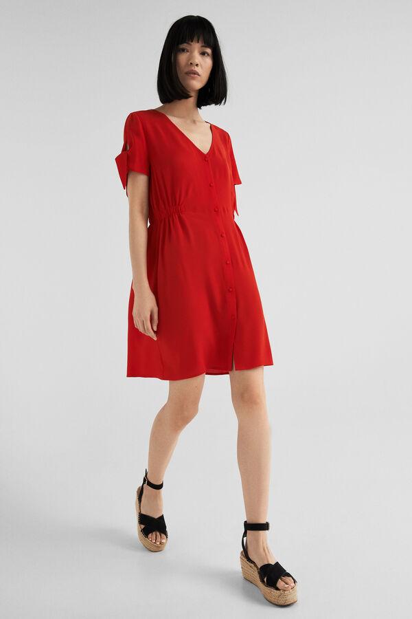 44716d2a Springfield Vestido botones goma cintura rojo. Comprar