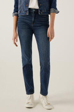 Springfield Sustainable wash recycled cotton straight jeans blue