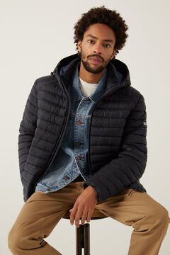 Springfield QUILTED HOODED JACKET navy
