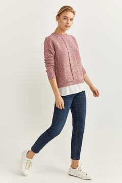 Springfield Two-material Openwork Jumper lavender