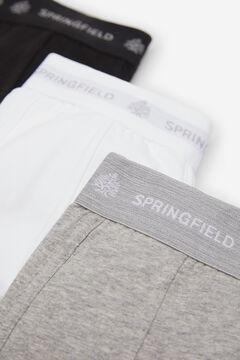Springfield 3ER-PACK BOXERSHORTS KLASSISCH weiß