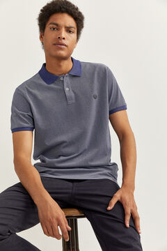 Springfield Slim Oxford polo bluish