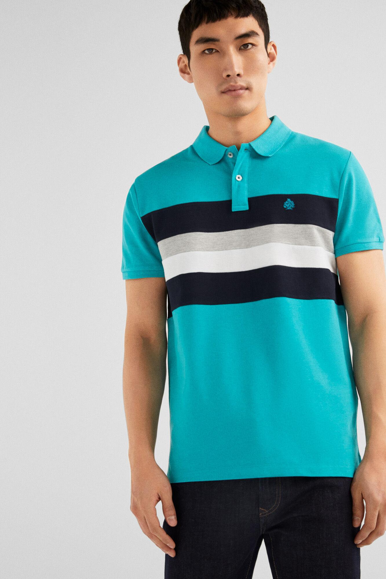 92a8d648a Springfield Slim chest stripe polo mallow