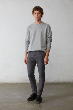 Springfield Skinny fit washed coloured 5-pocket trousers grey mix