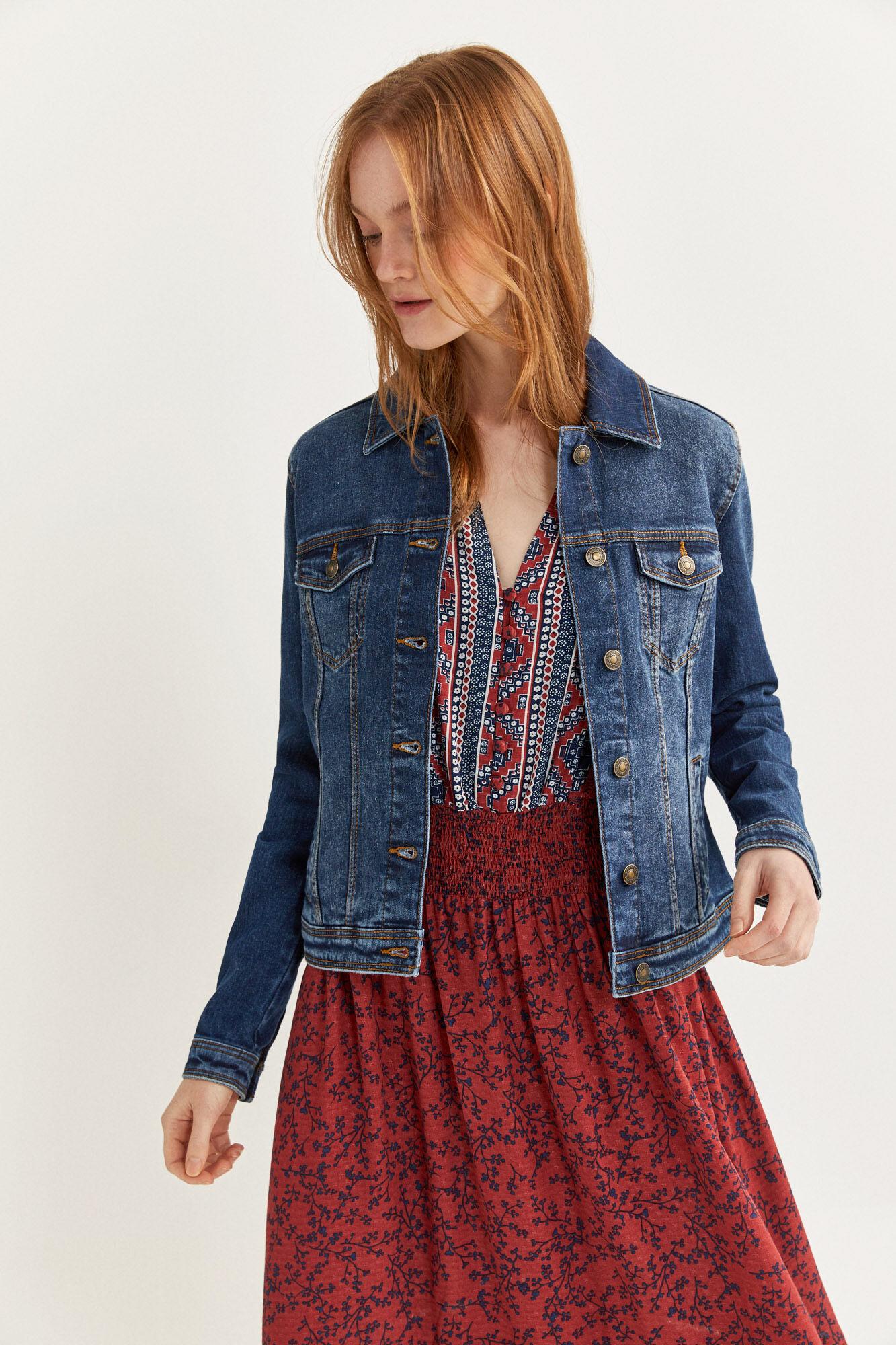 Essential denim jacket   Jackets   Springfield Man & Woman