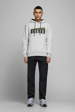 Springfield Terry cloth hoodie silber