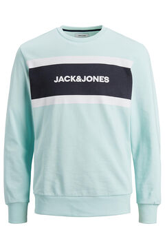 Springfield Colour block logo sweatshirt blue