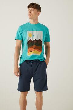 Springfield Watercolour T-shirt violet