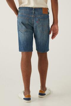 Springfield Calções jeans 405 de corte slim azul aço
