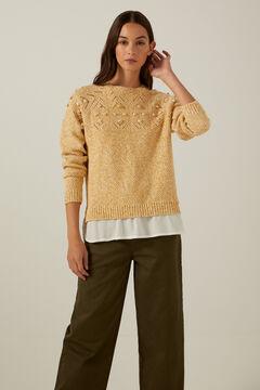 Springfield Reconsider twisted yarn jumper mustard