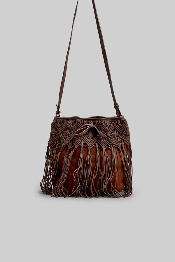 Springfield Leather Bag With Fringe Tan