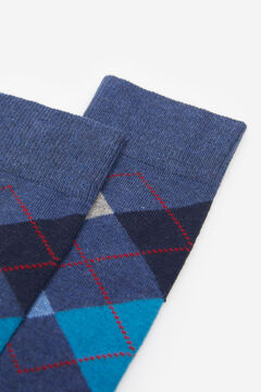 Springfield COLOURED DIAMOND SOCKS blue