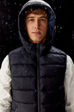 Springfield QUILTED GILET WITH DUPONT™ SORONA® PADDING AND REMOVABLE HOOD navy
