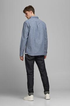 Springfield Printed organic cotton shirt blue mix
