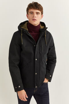 Springfield SHORT HOODED PARKA black