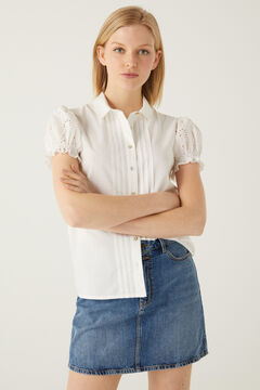 Springfield Swiss embroidery sleeves blouse white