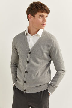 Springfield JERSEY-KNIT BUTTONED CARDIGAN grey