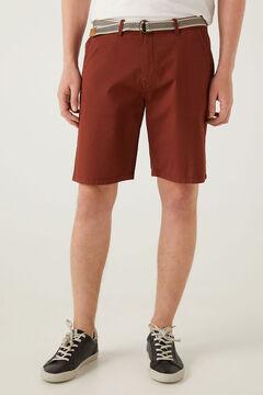 Springfield Lightweight stretch belted Bermuda shorts red