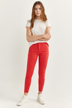 Springfield Slim Fit Cropped Jeans brick