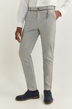 Springfield TEXTURED TWO-TONE DAILY SMART CHINOS grey
