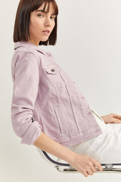 Springfield Coloured Denim Jacket pink