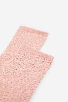 Springfield Textured socks pink