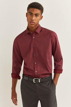 Springfield Slim fit printed shirt red