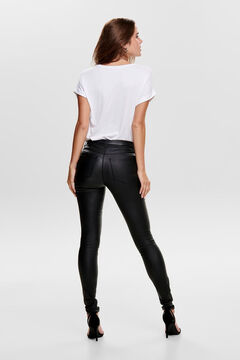 Springfield Faux leather trousers noir