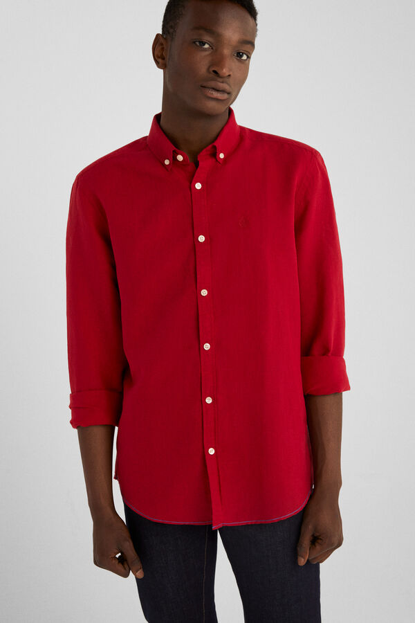 cdfe41abc Springfield Linen shirt royal red