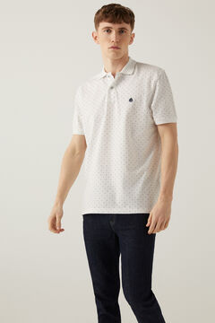Springfield Piqué polo shirt all-over print natural