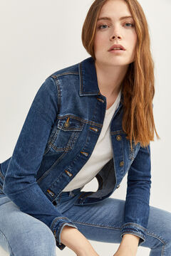 Springfield Essential Denim Jacket  steel blue