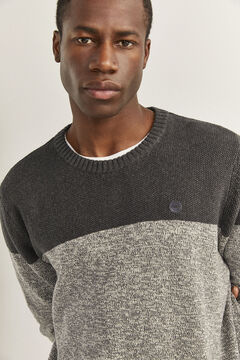 Springfield ORGANIC COTTON COLOUR BLOCK JUMPER grey