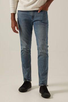 Springfield Medium wash slim fit jeans blue
