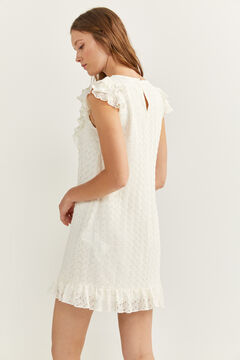 Springfield Flounced Crochet Dress natural