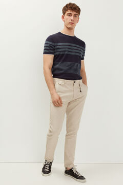 Springfield Two-tone stretch linen chinos camel