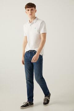 Springfield Jeans ligero slim lavado medio oscuro azul