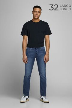 Springfield Slim fit tapered jeans bluish