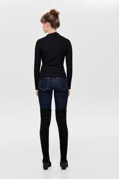 Springfield Ribbed frill trim t-shirt black