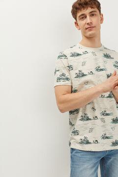 Springfield Abstract AOP T-shirt natural