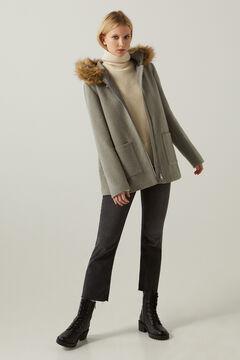 Springfield Fur hood duffle coat gray