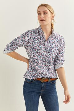 Springfield Printed Shirt blue mix