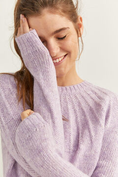 Springfield Textured Collar Jumper purple