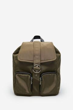 Springfield Nylon backpack pockets brown